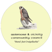 Aviemore and Vicinity Community Council Badenoch and Strathspey Cairngorms camus mor